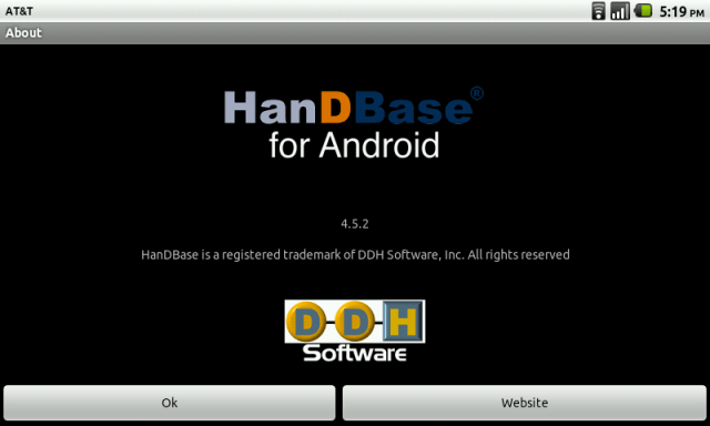 Review: HanDBase for Android