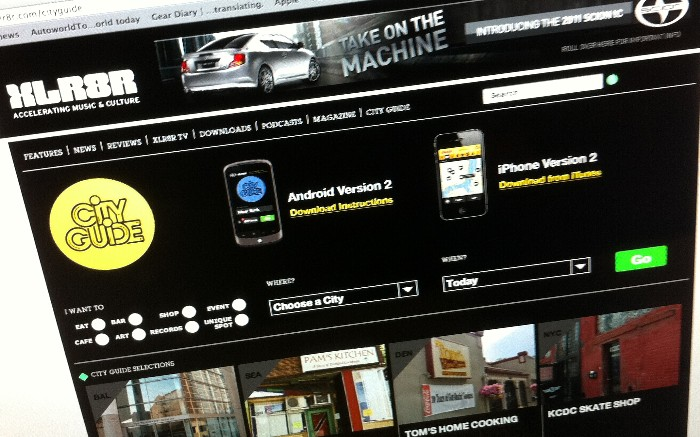 Scion and XLR8R Update City Guide App