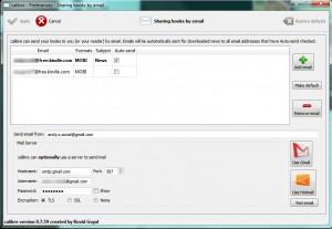 Email setup in Calibre
