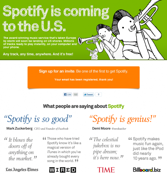 GearDiary Music Diary Notes: Spotify Opens 'Sign Up For Invite Page' ... U.S. Launch Imminent!
