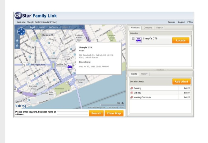 OnStar Testing New Family Link Vehicle Location Alert Program