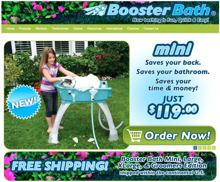 Pet Product Review: Booster Bath Mini Makes Washing Small Dogs a Breeze!
