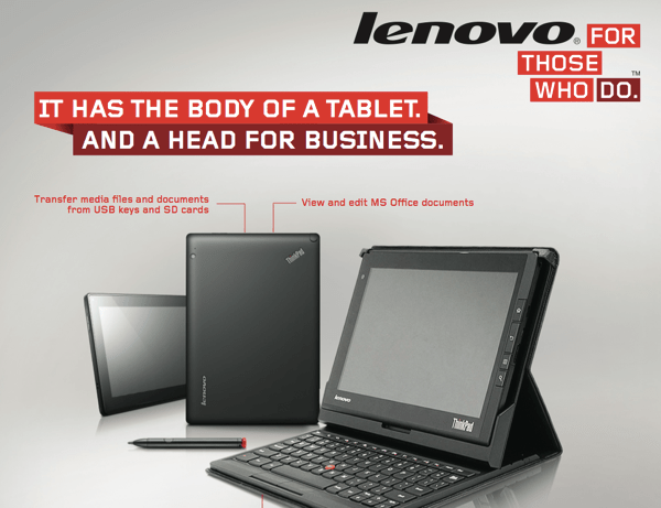 Lenovo Gets Down to Business with the ThinkPad Tablet