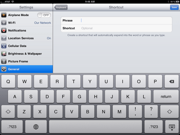 iOS 5.0 QuickTip: It is Worth the Time to Set Up Keyboard Shortcuts  iOS 5.0 QuickTip: It is Worth the Time to Set Up Keyboard Shortcuts  iOS 5.0 QuickTip: It is Worth the Time to Set Up Keyboard Shortcuts  iOS 5.0 QuickTip: It is Worth the Time to Set Up Keyboard Shortcuts  iOS 5.0 QuickTip: It is Worth the Time to Set Up Keyboard Shortcuts  iOS 5.0 QuickTip: It is Worth the Time to Set Up Keyboard Shortcuts
