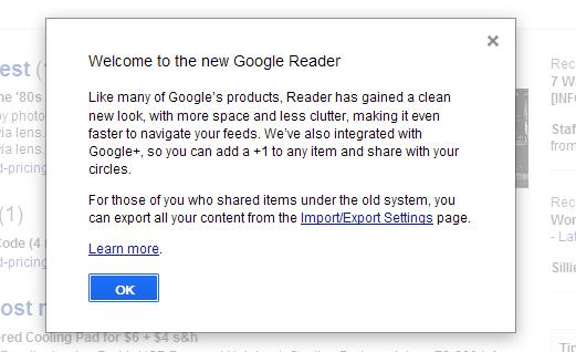So ... How Do YOU Feel About the New Google Reader (& GMail) Design?