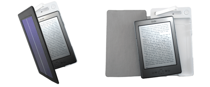 SolarKindle Cover Lets You Charge Your Kindle without an Outlet!