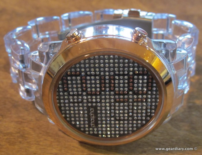 The Phosphor Appear Rose Gold Crystal Watch with Clear Nylon Bracelet Review