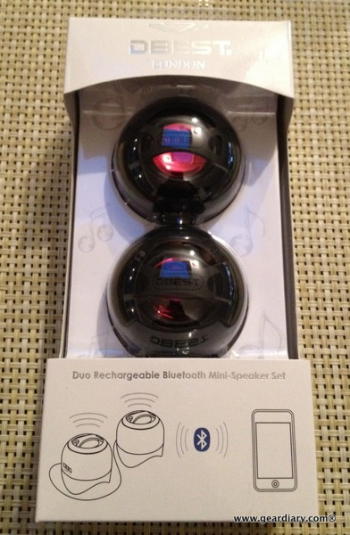 DBEST London Duo Bluetooth Rechargeable Mini-Speaker Set Review