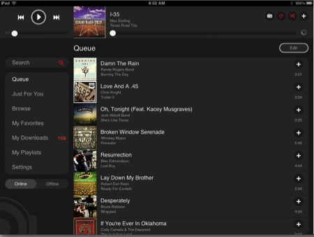 MOG For iPad Review