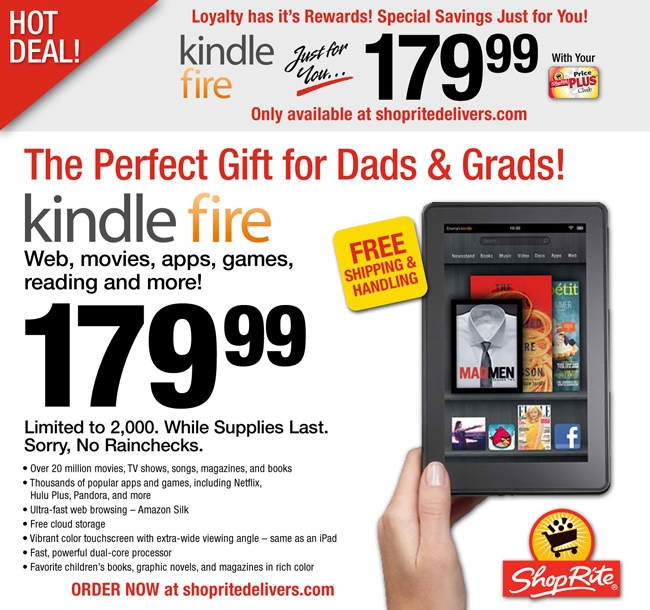 Shop Rite Has Great Deals On ... the Kindle Fire?