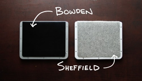 BOWDEN + SHEFFIELD Minimalist iPad Cases; Kickstart This  BOWDEN + SHEFFIELD Minimalist iPad Cases; Kickstart This