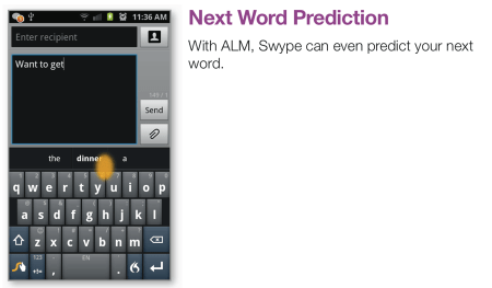 GearDiary Nuance Introduces Swype Platform for Android, Mobile Keyboards the Way They Were Meant to Be