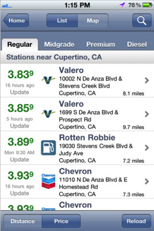 GasBuddy for iPhone