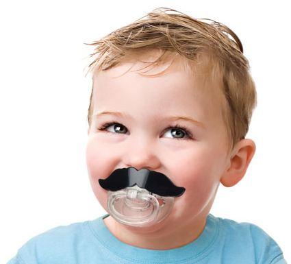 Mustache Pacifier Can Help Make Junior's Escapades All the More Snidely Whiplash-ish