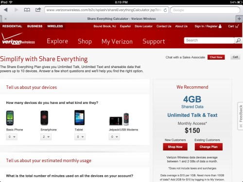 "Do Verizon's ""Share Everything"" Plans Actually Save You Money?"
