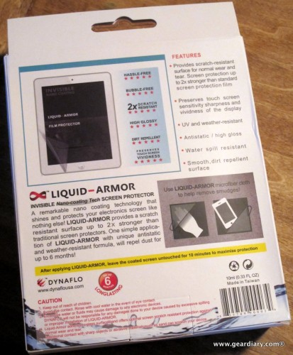 Liquid-Armor Invisible Nano-Coating Tech Screen Protector for Tablets and eReaders Review  Liquid-Armor Invisible Nano-Coating Tech Screen Protector for Tablets and eReaders Review