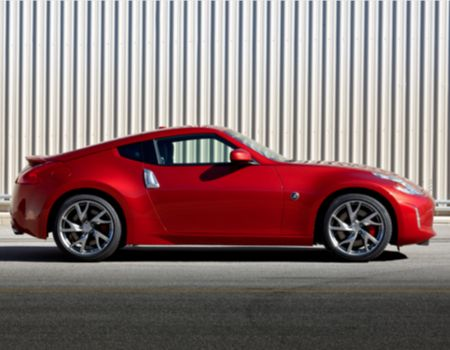 2013 Nissan 370Z Coupe in Steamy, Hot Magma Red