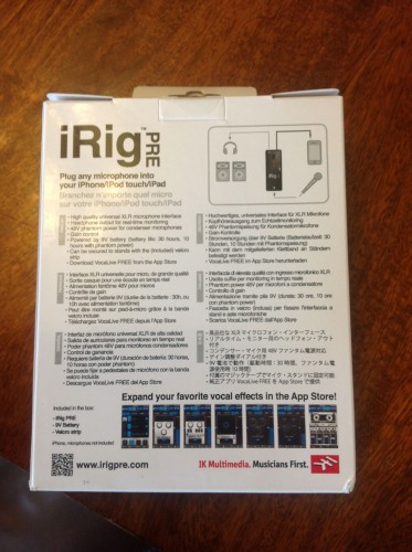 The iRig Pre Microphone Preamplifier Review  The iRig Pre Microphone Preamplifier Review