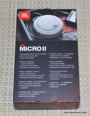 JBL Micro 2 Rechargeable Portable Speaker Review  JBL Micro 2 Rechargeable Portable Speaker Review