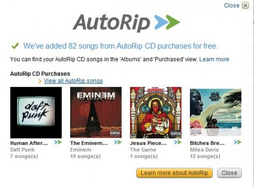 "Amazon Introduces ""Amazon AutoRip"", Giving Customers Free MP3 Versions of Purchased CDs  Amazon Introduces ""Amazon AutoRip"", Giving Customers Free MP3 Versions of Purchased CDs"