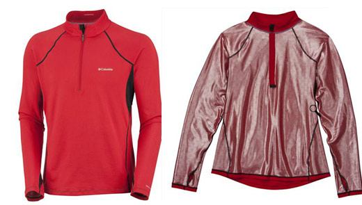 Omni Heat Baselayers, outisde inside
