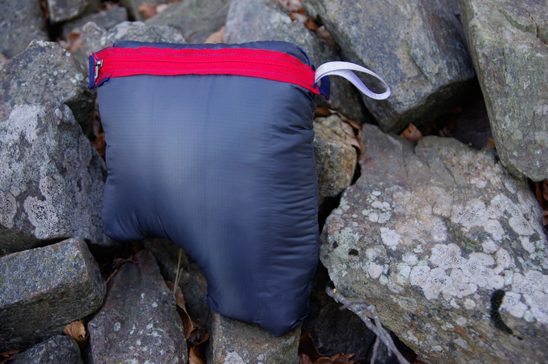 Rab Alpine Microlight compressed into pouch