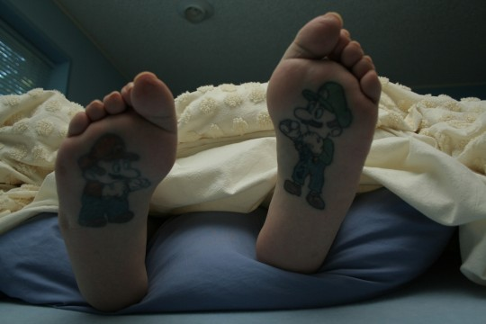 Tattoo Care for a Foot Tattoo