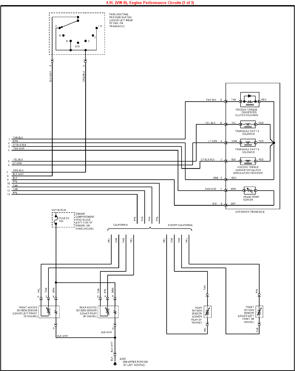 1995 Cadillac Deville 4.9L VIN B PCM (3 of 3) 1999 cadillac deville wiring diagram dolgular com  at webbmarketing.co