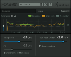 iZotope Releases RX Loudness Control Plug-in for Post Production and Broadcast Professionals