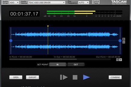 Tascam announces the free Hi-Res Editor software