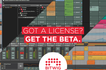 Bitwig Studio 1.2 BETA is available