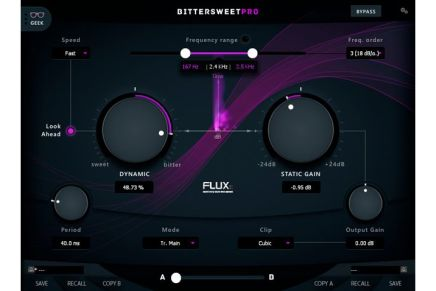 Flux:: Releases BitterSweet Pro Frequency Dependent Transient Designer