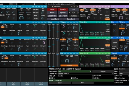 Sigabort MIDIsynth-Peak editor for the Novation Peak synthesizer – Gearjunkies Review
