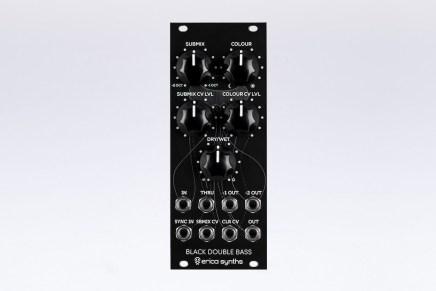Erica Synths announces Black Double Bass Eurorack module
