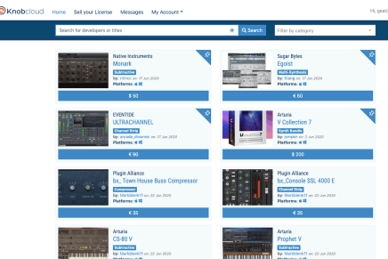 Introducing Knobcloud.com – a dedicated marketplace for audio software licenses