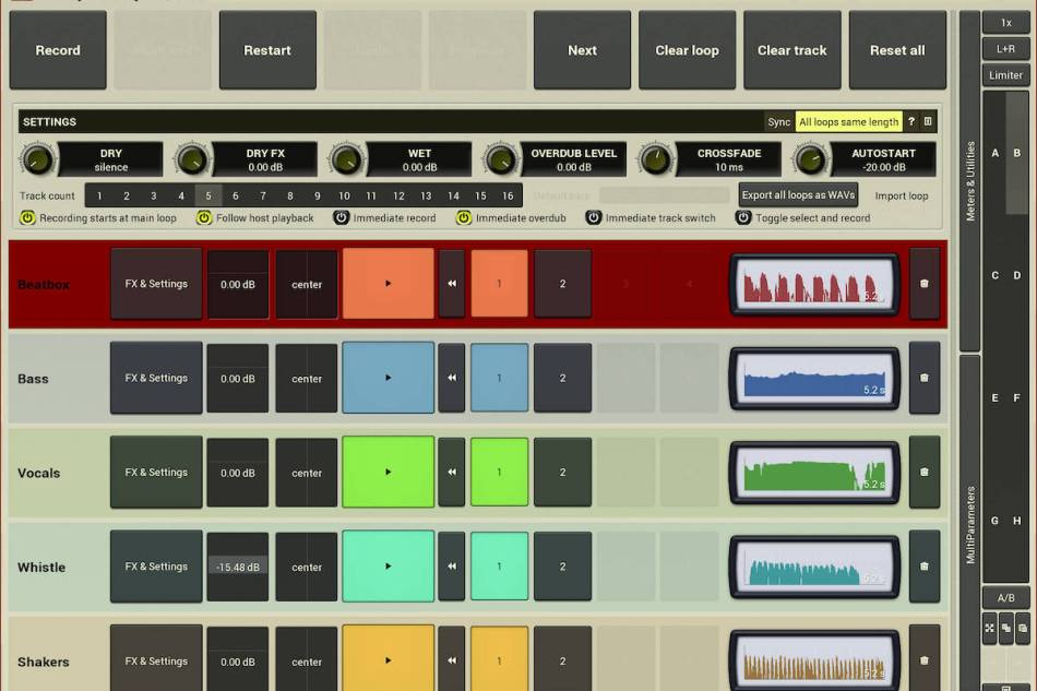 MeldaProduction announces MSuperLooper  – multitrack looper and powerful effects processing plug-in