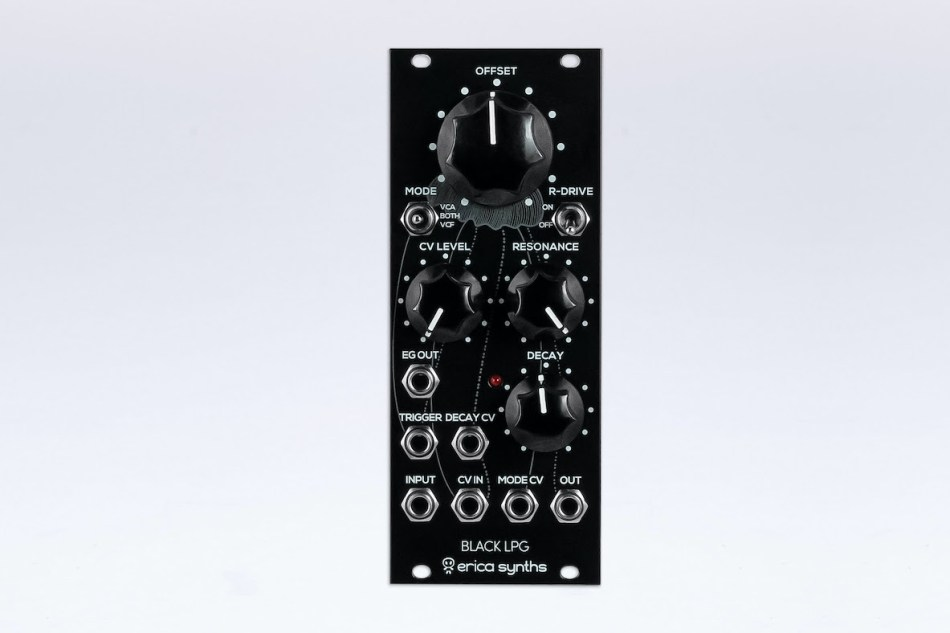 Erica Synths Introduces Black LPG Lowpass Gate Eurorack module