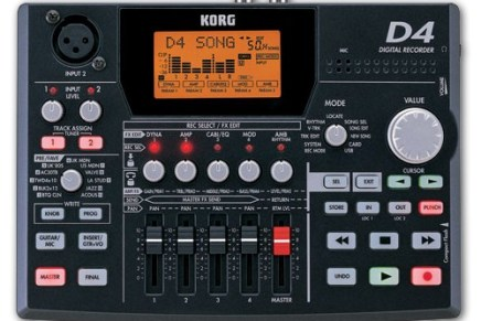Korg launches D4 – New 4 track recorder