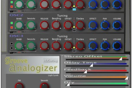Nusofting releases Groove Analogizer – VST drum synth