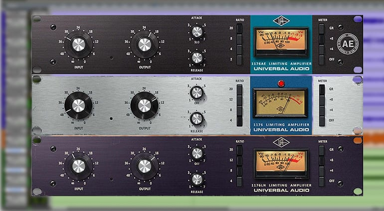 Universal Audio 1176 Classic Limiter Collection plugin GUI