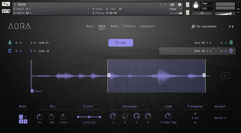 Big Fish Audio Aura - Edit page