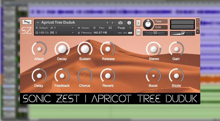 sonic zest apricot tree daduk sample pack GUI