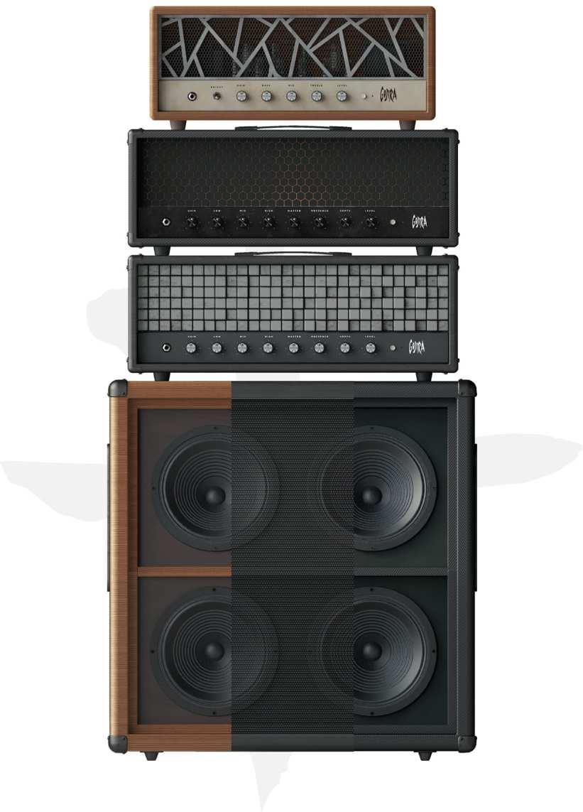 Archetype Gojira has three great amp setups