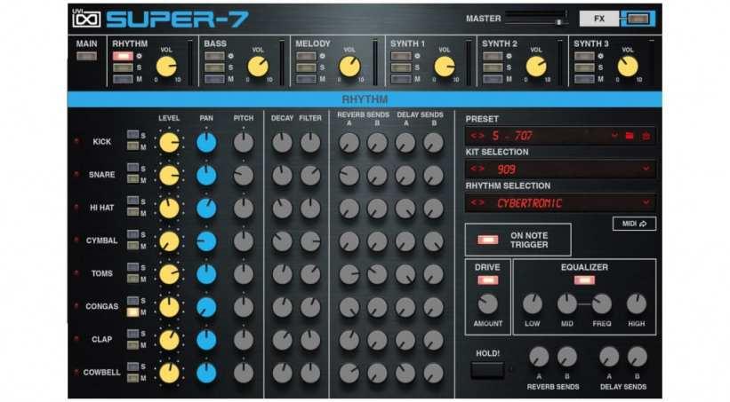 UVI Super-7 Drum editor