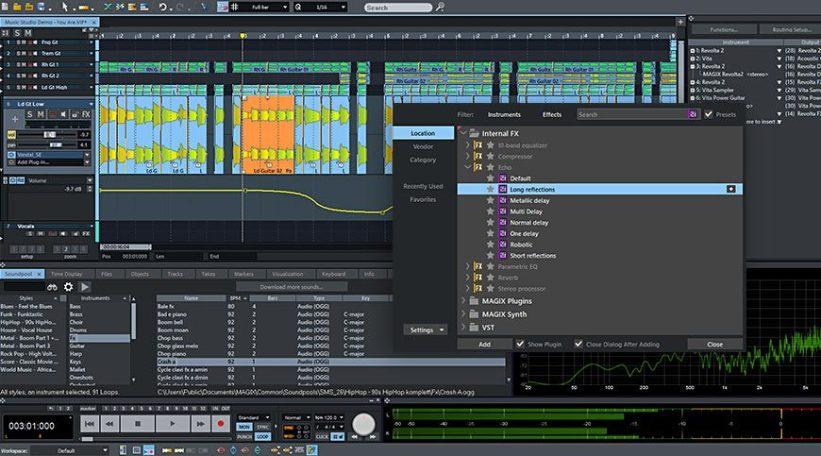 Samplitude Music Studio 2022