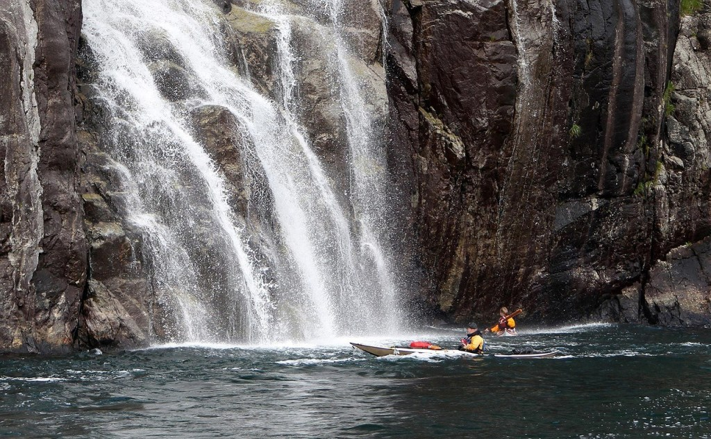 Kayak Waterfall