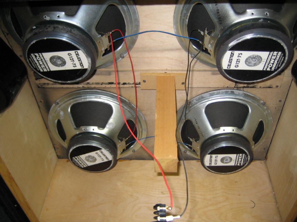 Re Wiring My Marshall Cab Gearz Pro Audio Community Speaker Configurations