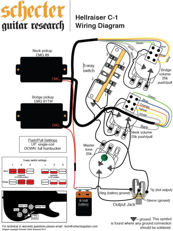 schecter pickups wiring diagrams fuse box wiring diagram rh acc  cybersolution co guitar wiring diagrams schecter