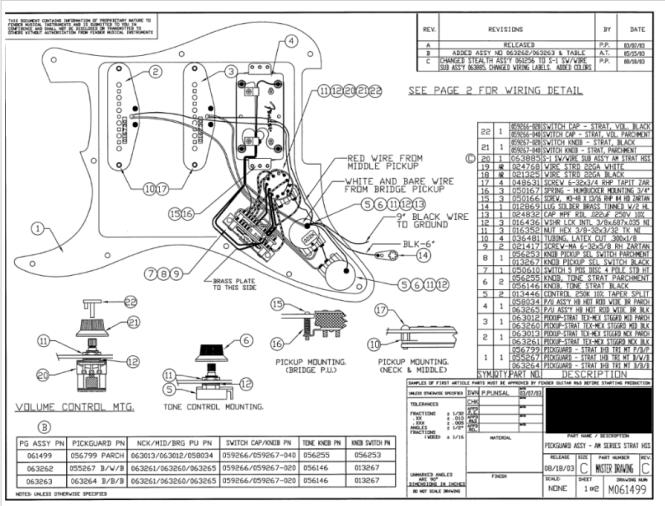 Fender Stratocaster Wiring Diagram Hss Wiring Diagram – Stratocaster Wiring Diagrams