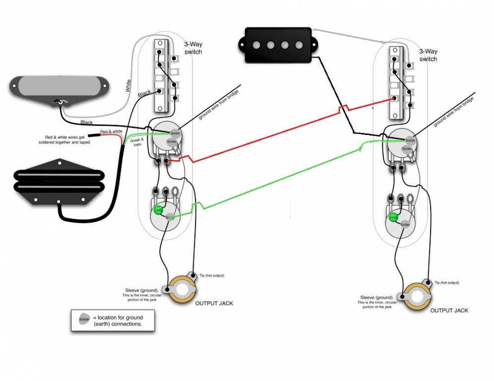 Guitar Pick Up Diagram on Les Paul Jr Wiring Diagram